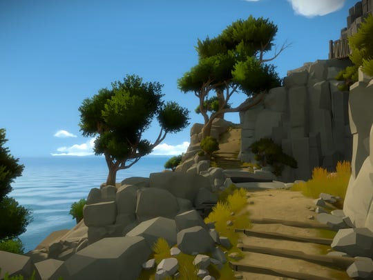 """""""The Witness"""" lets you wander around a beautiful landscape,"""