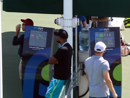 Kiosks on PlaySights' smart courts allow players and