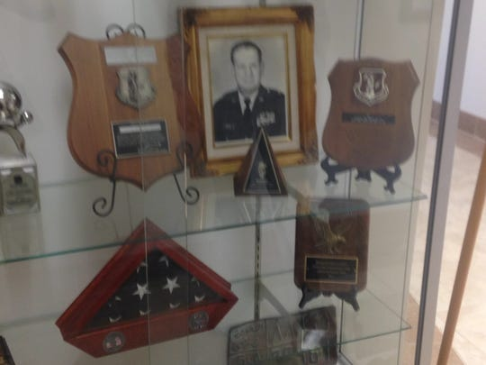 Display case at the 226th Combat Communication Group.