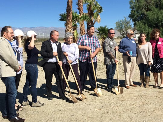 Officials participated in a groundbreaking ceremony
