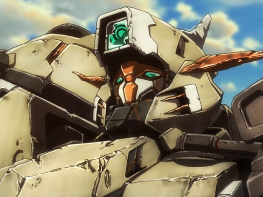 "Scenes from ""Gundam Iron-Blooded Orphans Episode 25:"