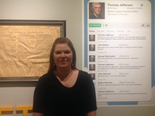 #HashtaggingHistory exhibit merges history and social media to connect to younger museum guests, said Emily Young Feazel, creative and visual arts director at R.W.  Norton Art Gallery.