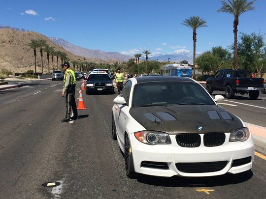 Officials used a BMW 135i Thursday to gather data along