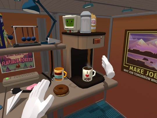 Job Simulator inside HTC Vive