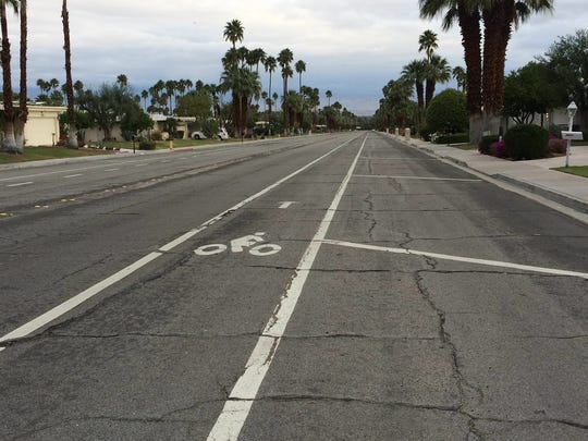 Toledo Avenue has one lane each for traffic and bicyclists,