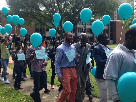 ASU students gather on campus to stand against sexual