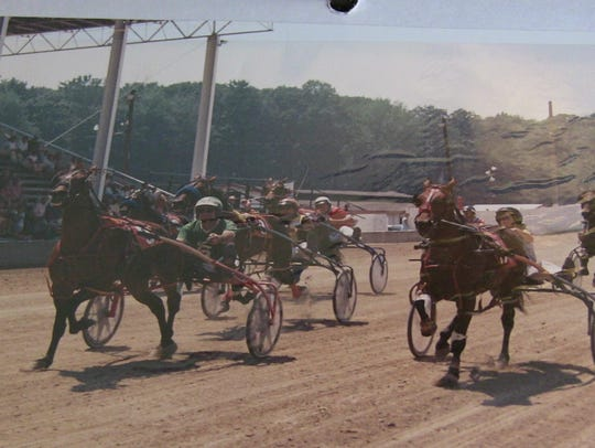 Robert Searle showed off this 1988 photo from his harness