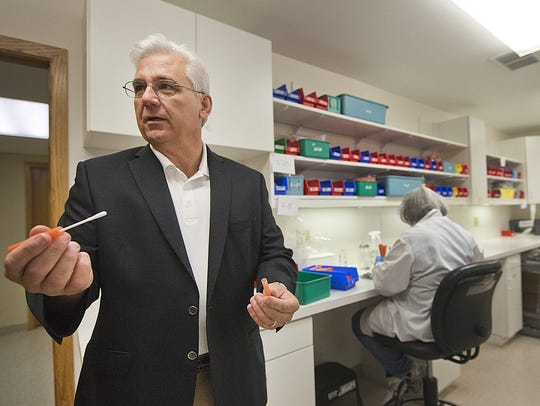 Microbiologics CEO Brad Goskowicz stands in Microbiologics