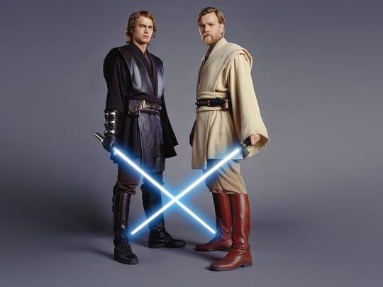 Anakin Skywalker (Hayden Christensen) and Obi-wan Kenobi
