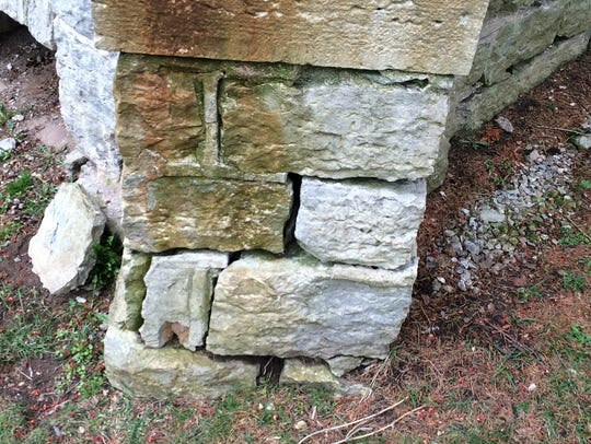 The chapel's foundation is crumbling.