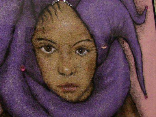 One of George Martinez' works of human hair art.
