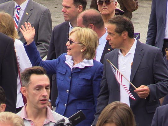 Presidential candidate Hillary Clinton and Gov. Andrew