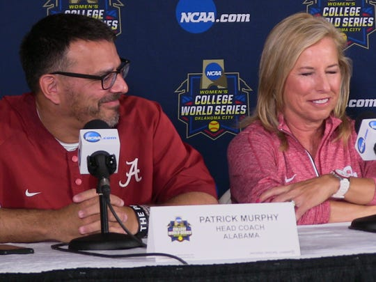 Alabama coach Patrick Murphy and Oklahoma coach Patty
