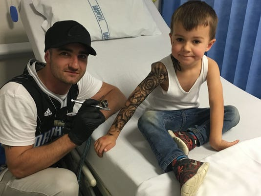 Benjamin Lloyd at a children's hospital