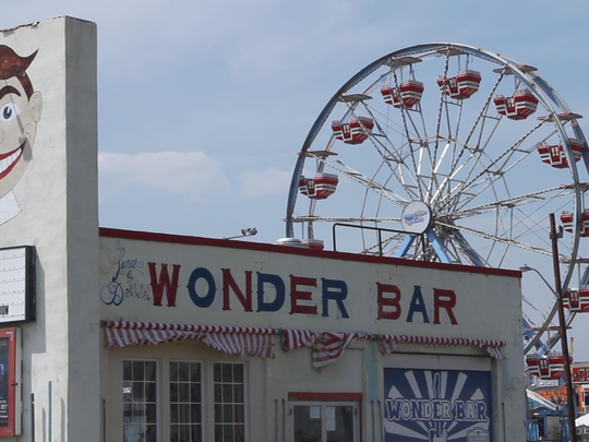 The Wonder Bar, just off the Asbury Park boardwalk, where Robert Francis, 31, the self-proclaimed Dork of Deception, can be found performing.