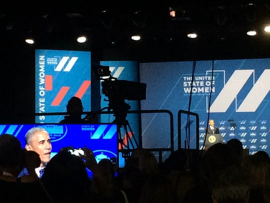 President Obama spoke at the summit. He discussed areas that have improved for women, and areas that still need improvement.