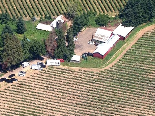 Scene of a fatal shooting in Woodburn.