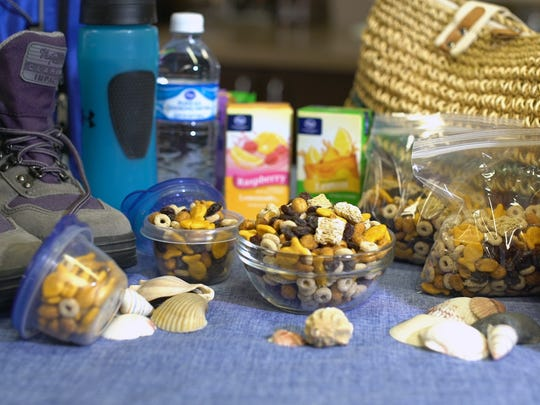 Summer is definitely the outdoor activity season. You'll need some sustaining fuel before, during and after your favorite activity though, so throw together my easy trail-like snack mix.