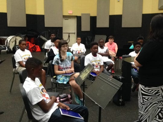 Middle school students were invited to ASU's first Summer Band camp where they received professional instruction from faculty this week.