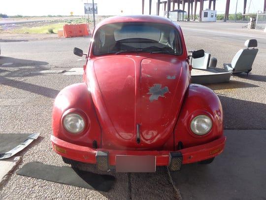 Marijuana was found in a Volkswagen Beetle on Tuesday