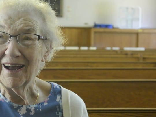 Bess Schwartz, who has been a member at the Anshe Paole Zedek Synagogue for 69 years, prepares to leave Manitowoc and her synagogue for a new life in Milwaukee.