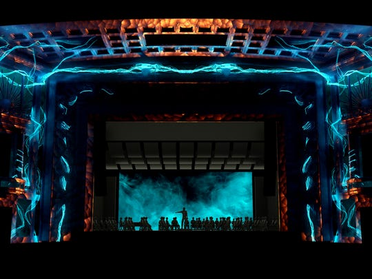 A rendering of this year's Lumenocity inside the Taft Theatre, designed by Lightborne