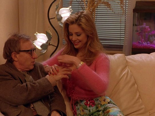 """Woody Allen and Mira Sorvino star in """"Mighty Aphrodite""""."""