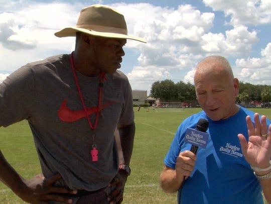 PrepZone analyst John Weber talks with Immokalee head