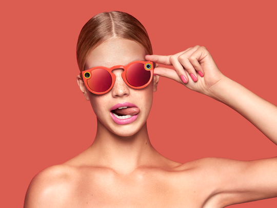 Promo shot of the Snapchat Spectacles
