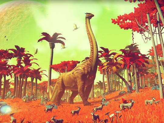 "Some of the locales in ""No Man's Sky"" feature amazing flora and fauna."