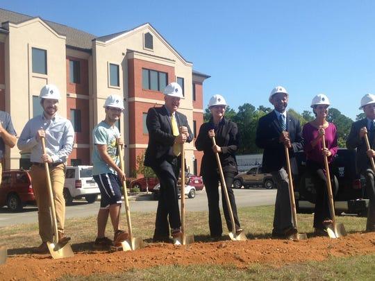 Faulkner University broke ground on a new multi-million dollar dormitory on Wednesday.