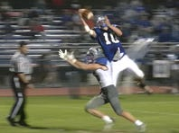 Another Cocalico defensive back had a top play this week. This time it was freshman Noah Palm that elevated and made a one-handed pick against Cedar Crest. The Eagles ultimately won, 22-13.