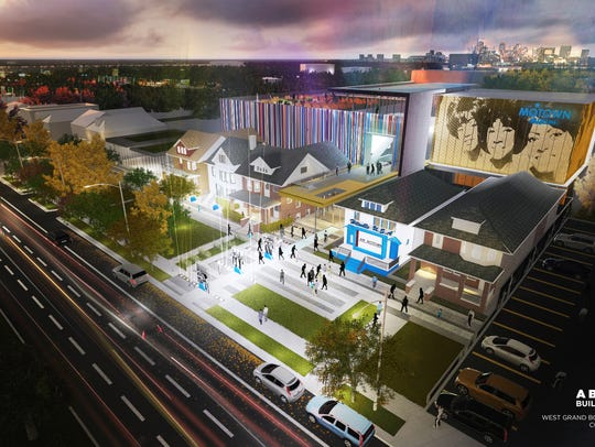 Rendering of the planned Motown Museum expansion