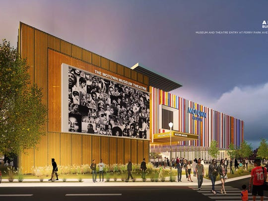 An artist rendering of the planned Motown Museum expansion