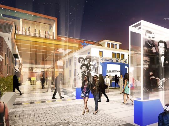 An artist rendering of the Motown Museum expansion