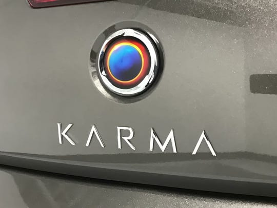 The Karma Revero's unique badge is hand-painted, signed