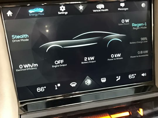 Karma developed a new infotainment system for the Revero.