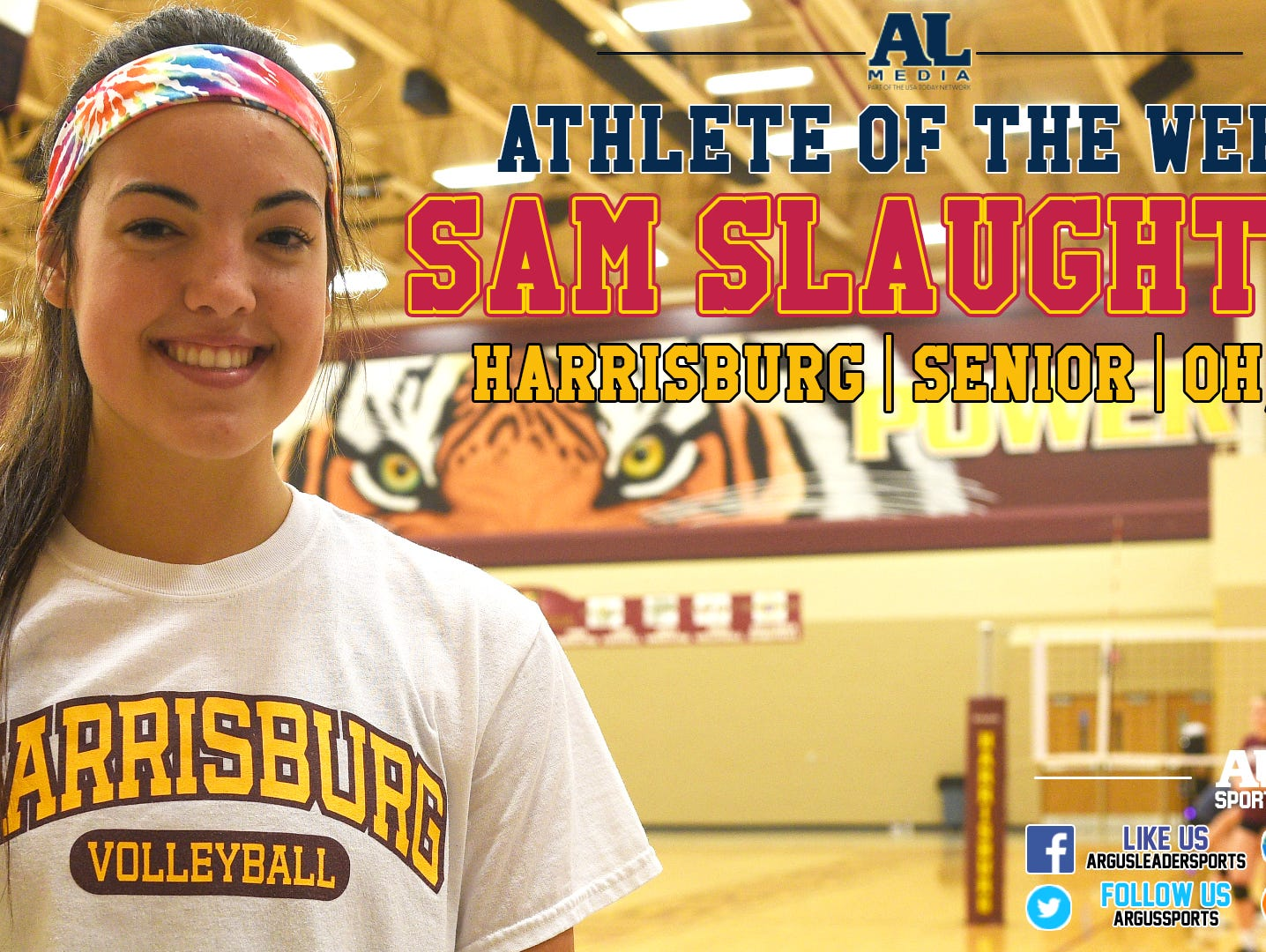 Harrisburg volleyball standout Sam Slaughter