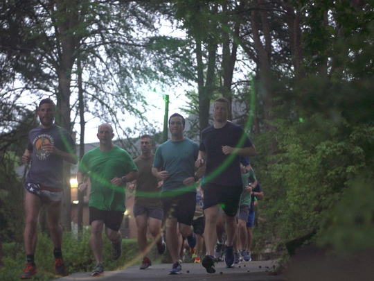 #40Men4Change are running in the Spinx Run Fest to support their friend, Tommy Sinn, who is battling cancer, and to raise money for local nonprofit groups.