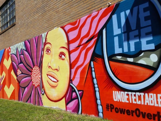Regional One's Power Over HIV mural on Bellevue.