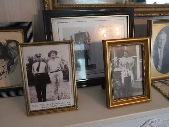 Family photos are scattered throughout at the President