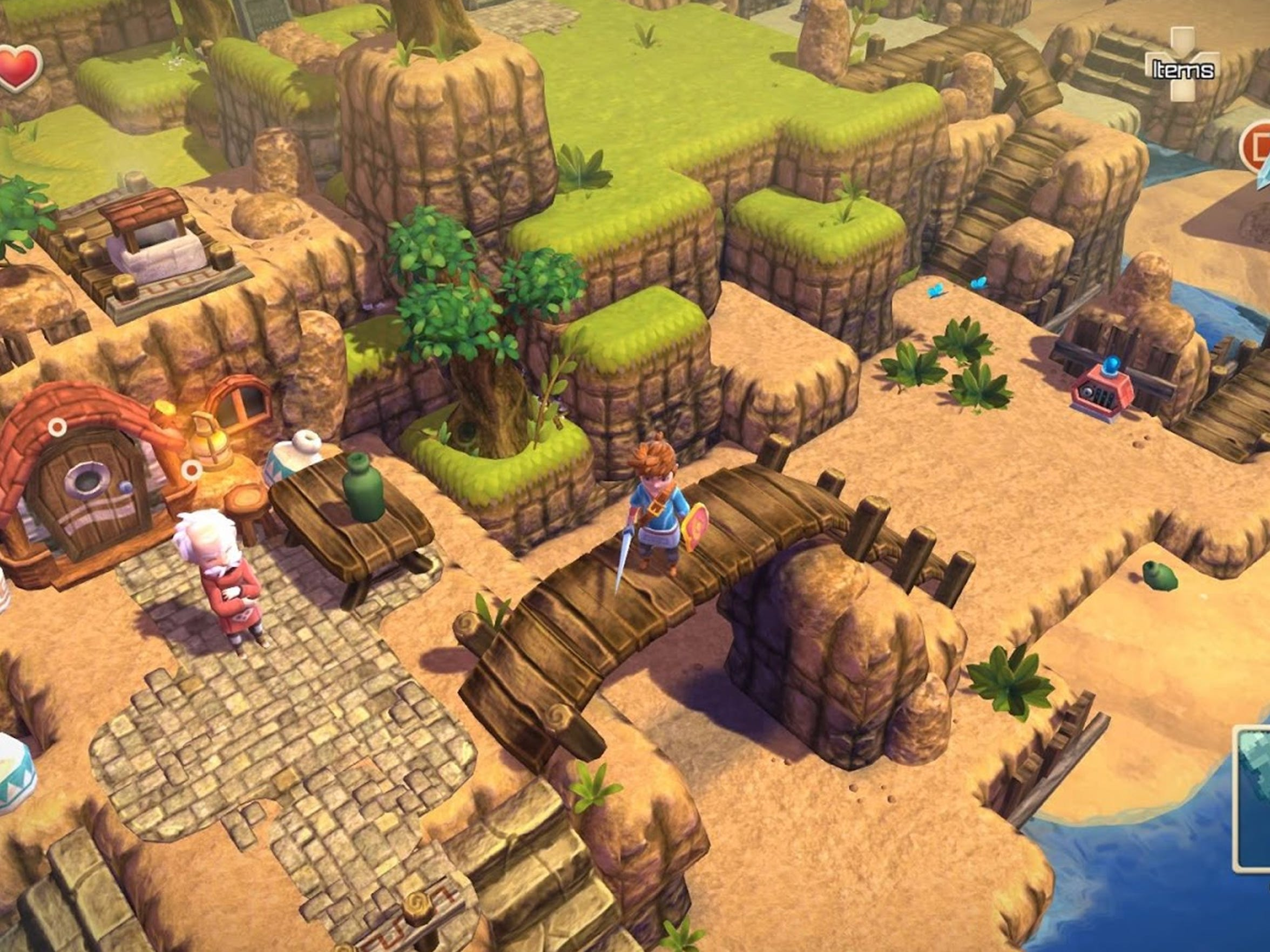 "Old-school RPG design is front and center on ""Oceanhorn:"