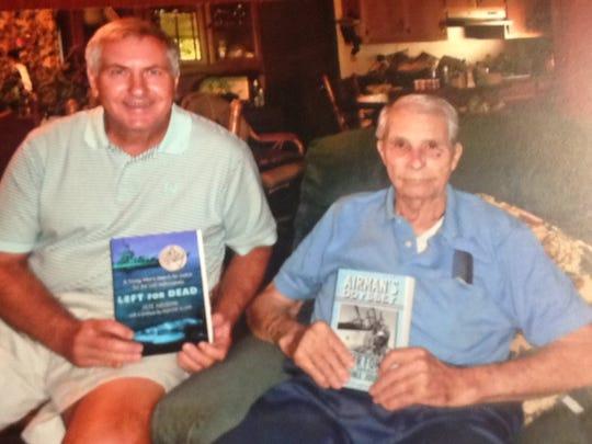 James Lawrence, left, poses with Alabama native, Morgan