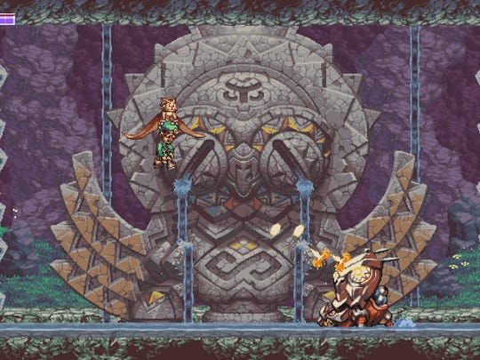 Owlboy uses classic old-school gaming mechanics such as twin-stick shooting.