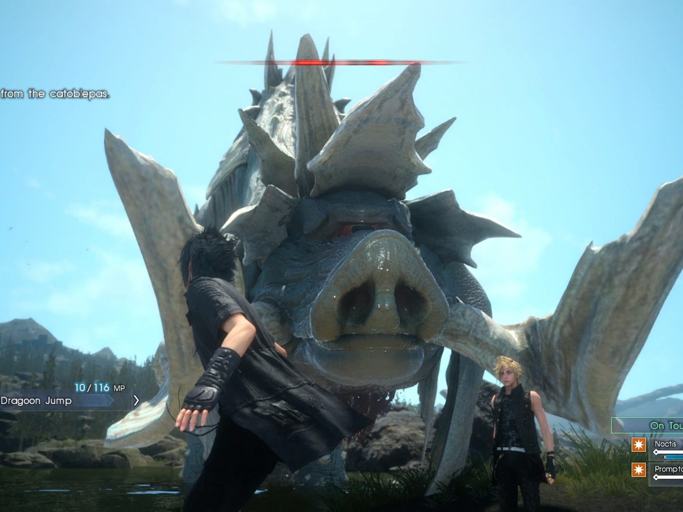 That is one big piggie in Final Fantasy XV.