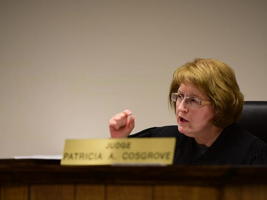 Visiting Judge Patricia Cosgrove has been appointed