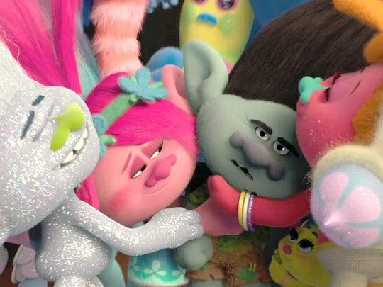 """The action says """"hugs"""" but the animation says """"drugs"""" in """"Trolls."""""""