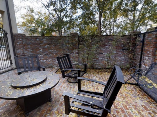 There is an outdoor courtyard perfect for entertaining.
