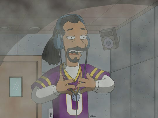 Snoop Dogg, seen in a recording booth with a mysterious