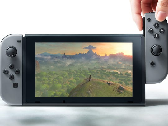 Nintendo's hybrid console, the Switch, in portable